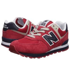 New New balance 574 V1 Lace-up Sneaker red navy 5